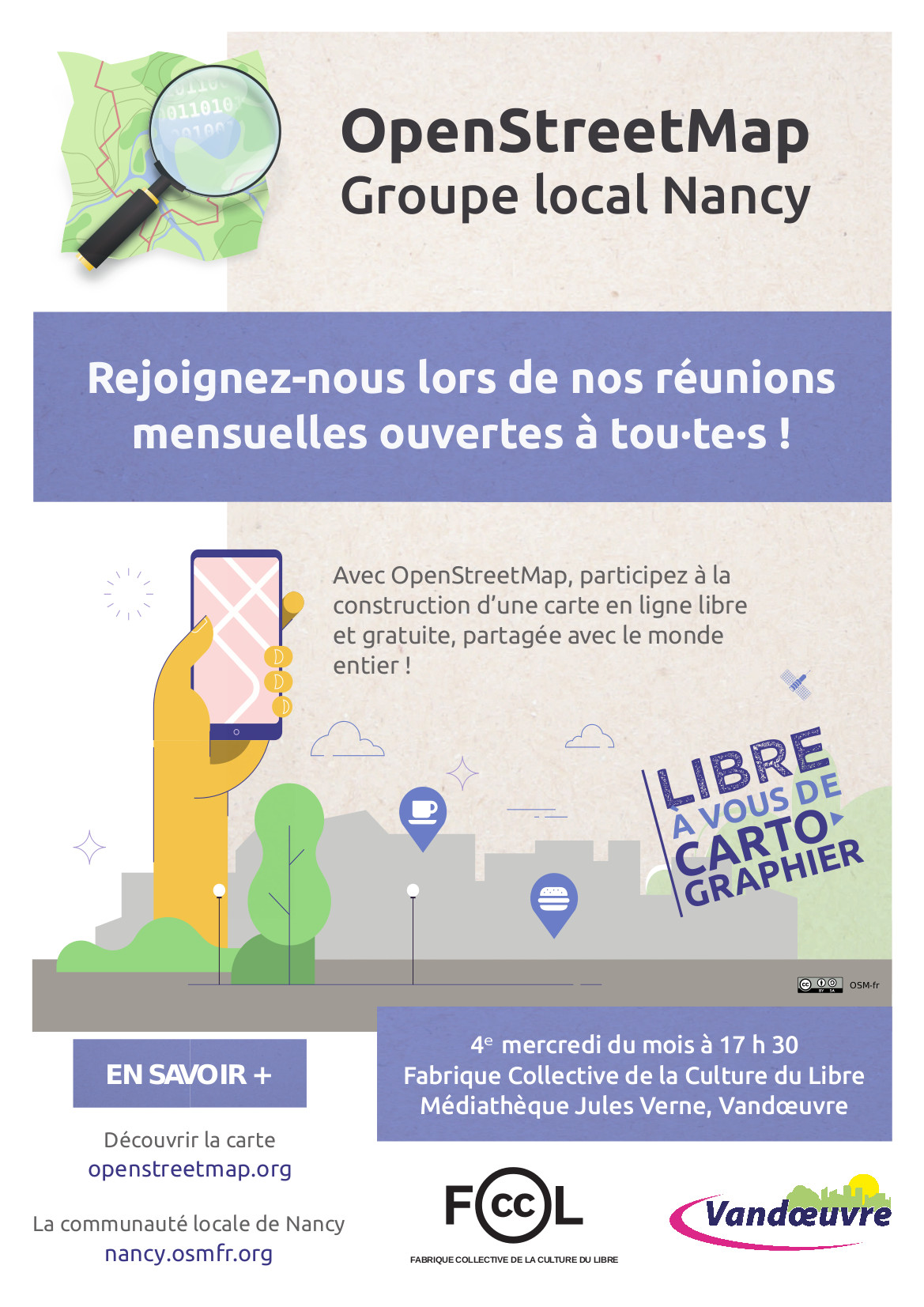 Affiche OpenStreetMap Groupe local Nancy