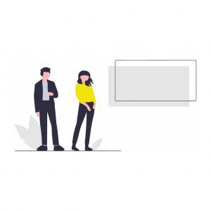 Illustration présentant des personnes visualisant un tableau