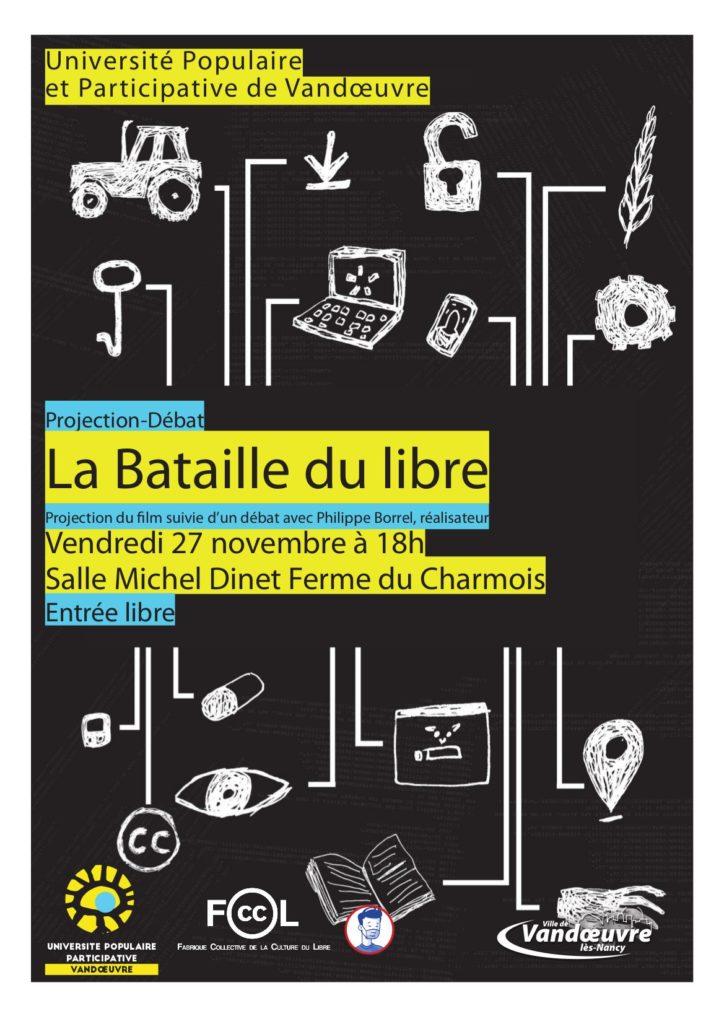 Affiche « La Bataille du Libre » Vandoeuvre